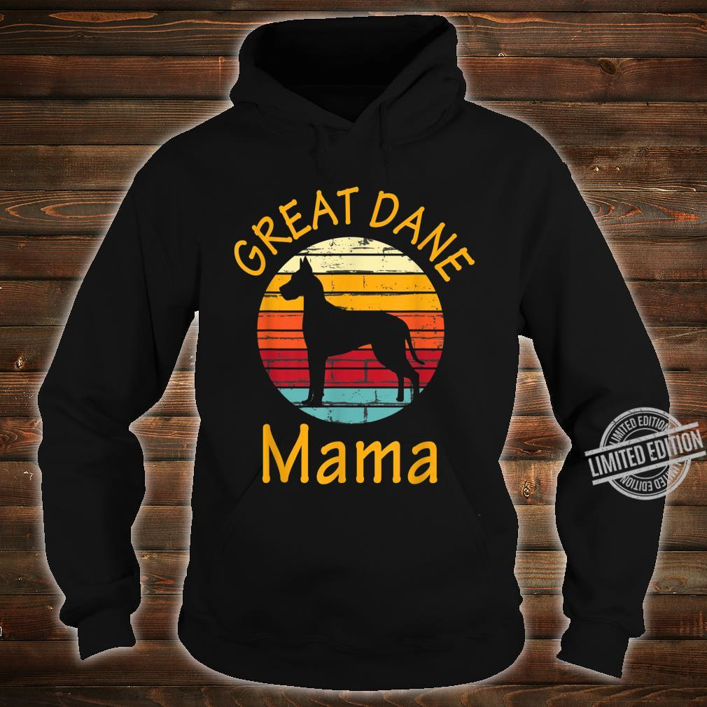 Cute Dog Trainer Great Dane Mama Rescue Dogs Mom Shirt hoodie