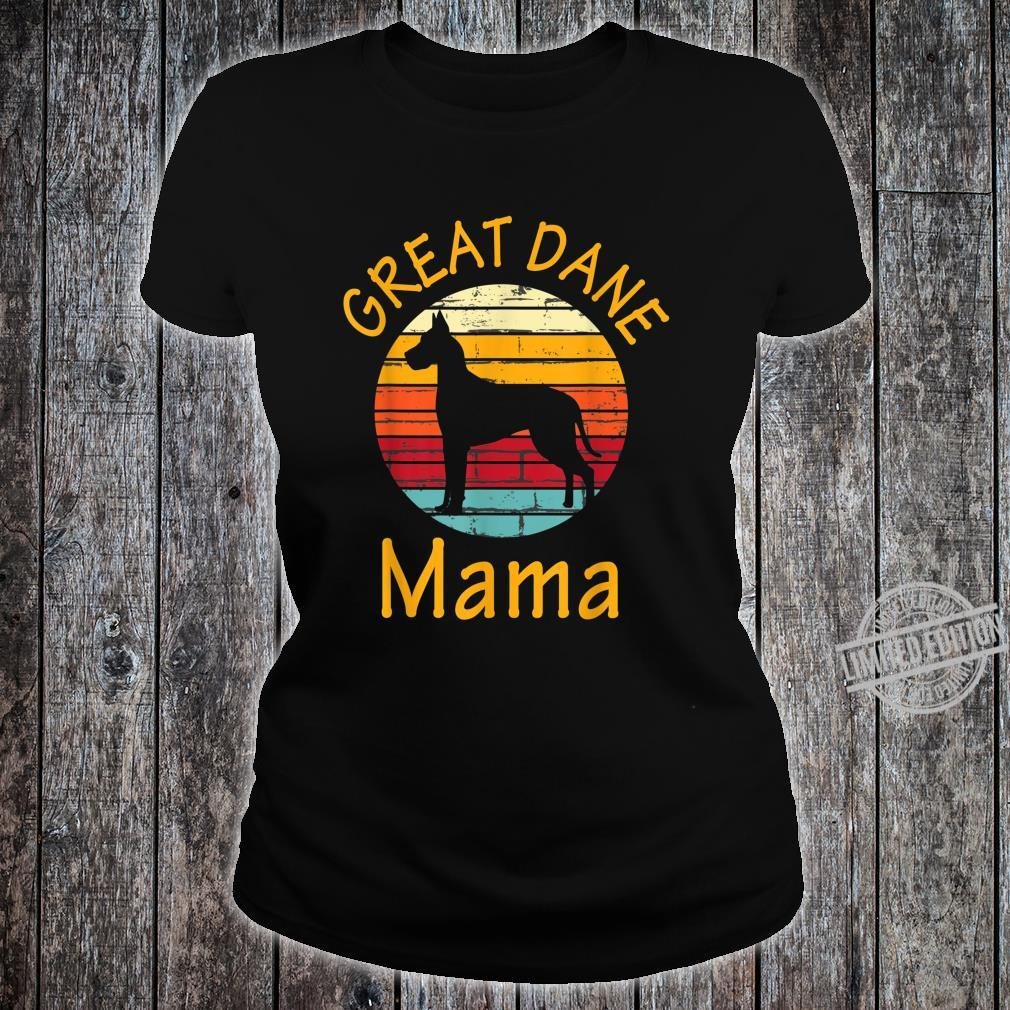 Cute Dog Trainer Great Dane Mama Rescue Dogs Mom Shirt ladies tee