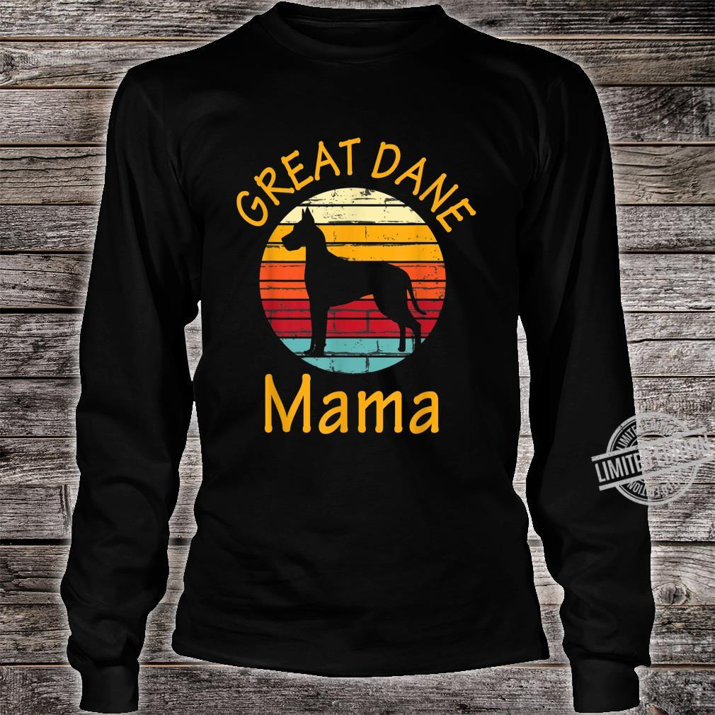 Cute Dog Trainer Great Dane Mama Rescue Dogs Mom Shirt long sleeved