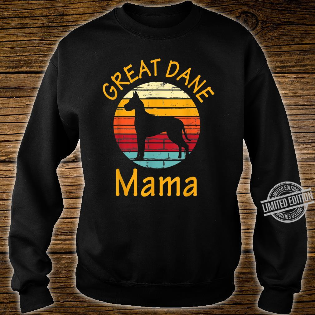 Cute Dog Trainer Great Dane Mama Rescue Dogs Mom Shirt sweater