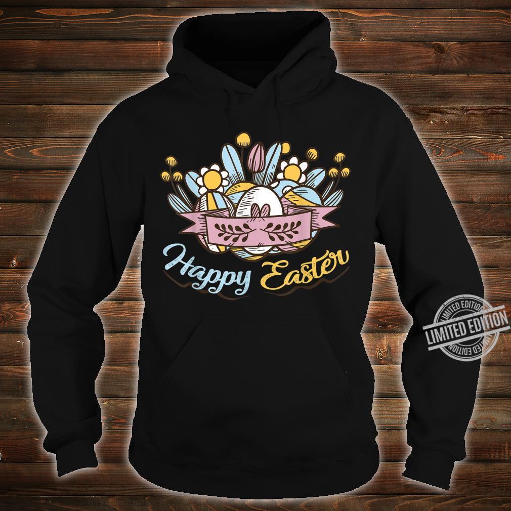 Cute Happy Easter Eggs Flowers Egg Hunting Shirt hoodie