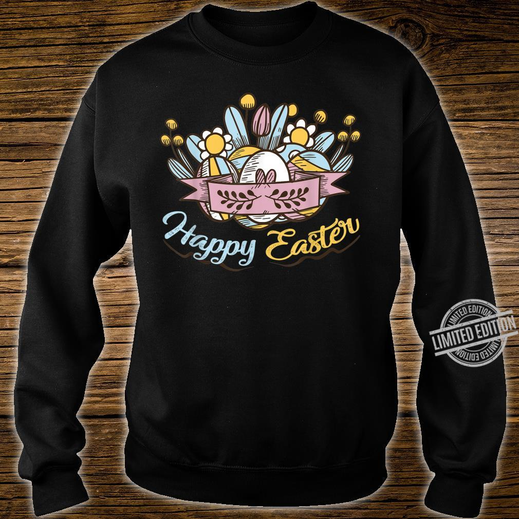 Cute Happy Easter Eggs Flowers Egg Hunting Shirt sweater