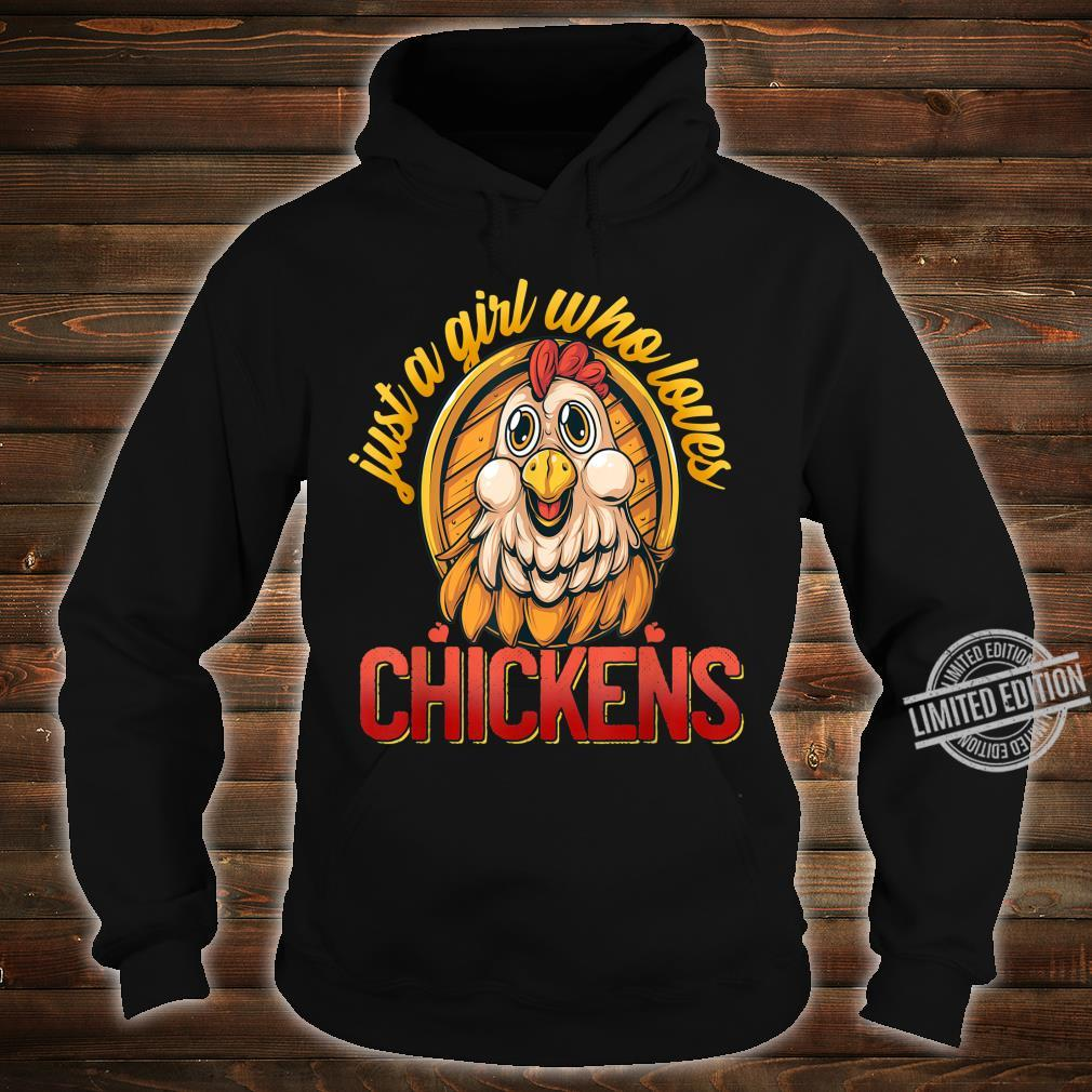 Cute Just A Girl Who Loves Chickens Farmer Girls Shirt hoodie