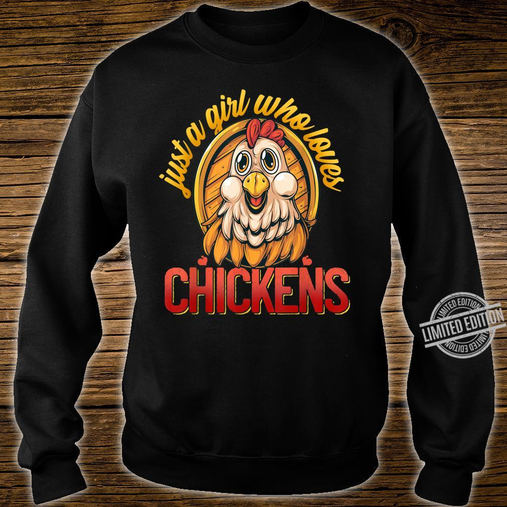Cute Just A Girl Who Loves Chickens Farmer Girls Shirt sweater