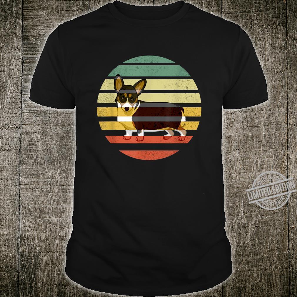 Cute Retro Black Tricolor Pembroke Welsh Corgi Dog RBTPWC Shirt