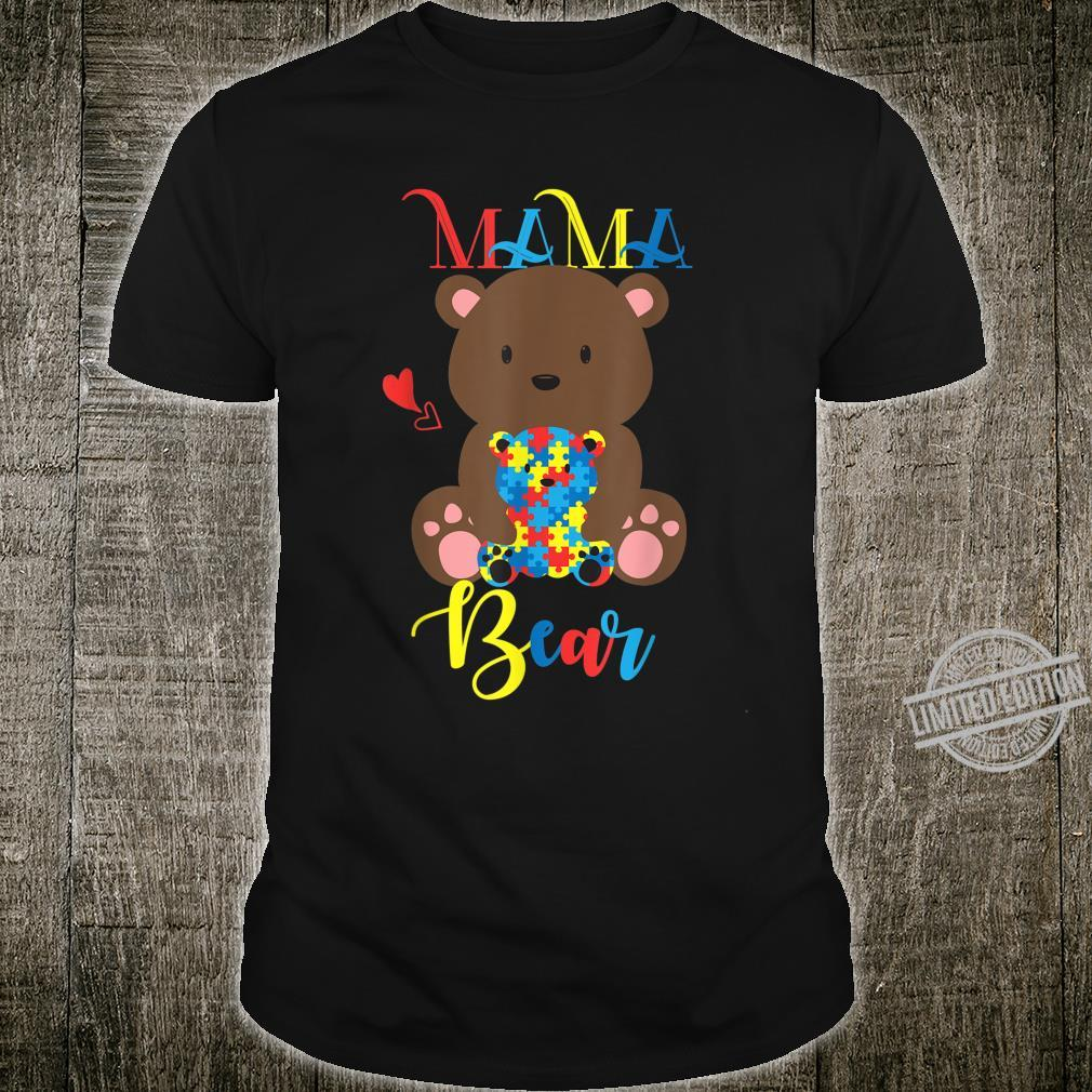 Cute Teddy Bears Mama Bear Autism Mother Puzzle Baby Shirt