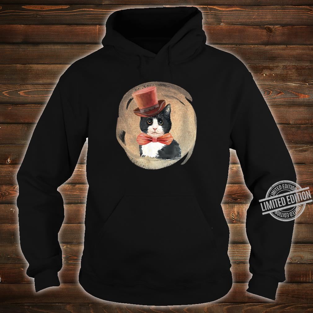Cute Tuxedo Cat Vintage Style Artwork for Kittens Shirt hoodie