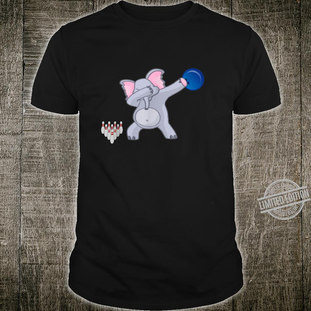 Dabbing Elephant bowler Adults Bowling Shirt