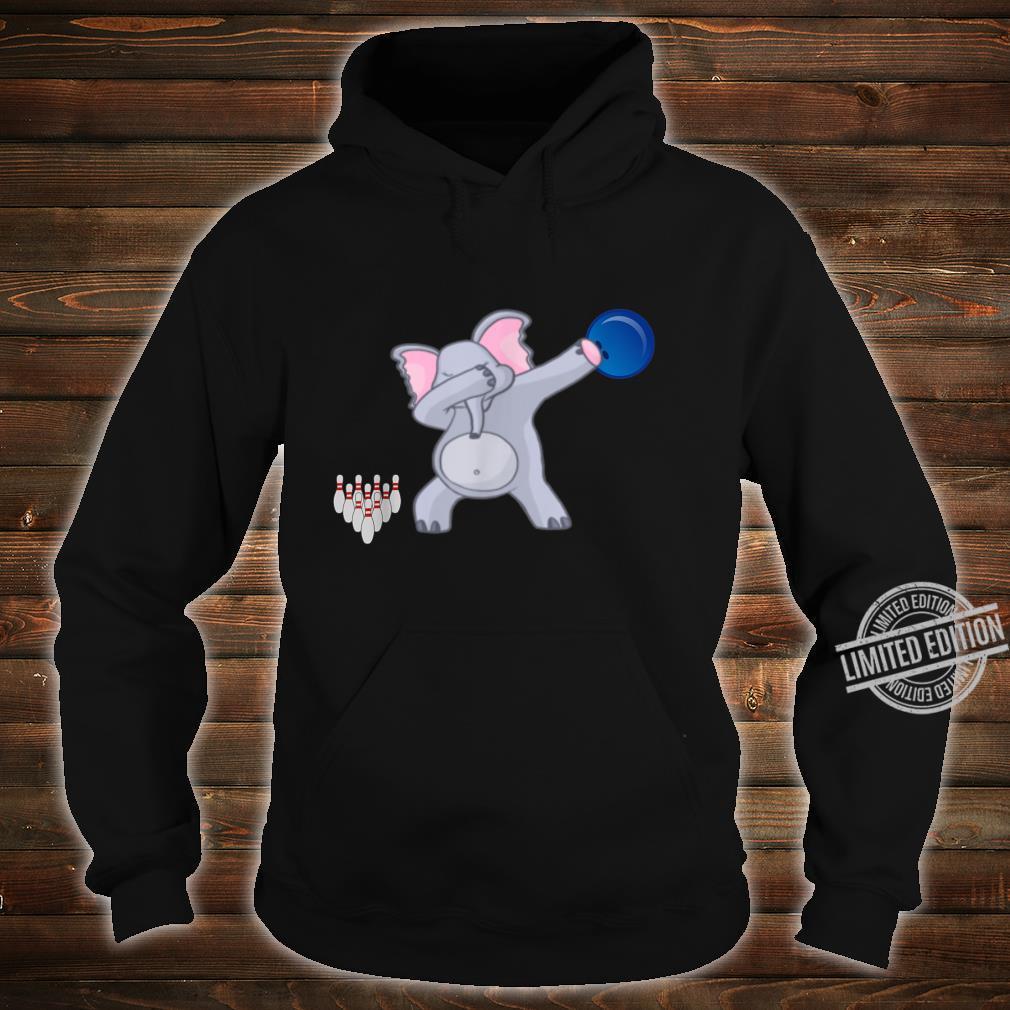 Dabbing Elephant bowler Adults Bowling Shirt hoodie