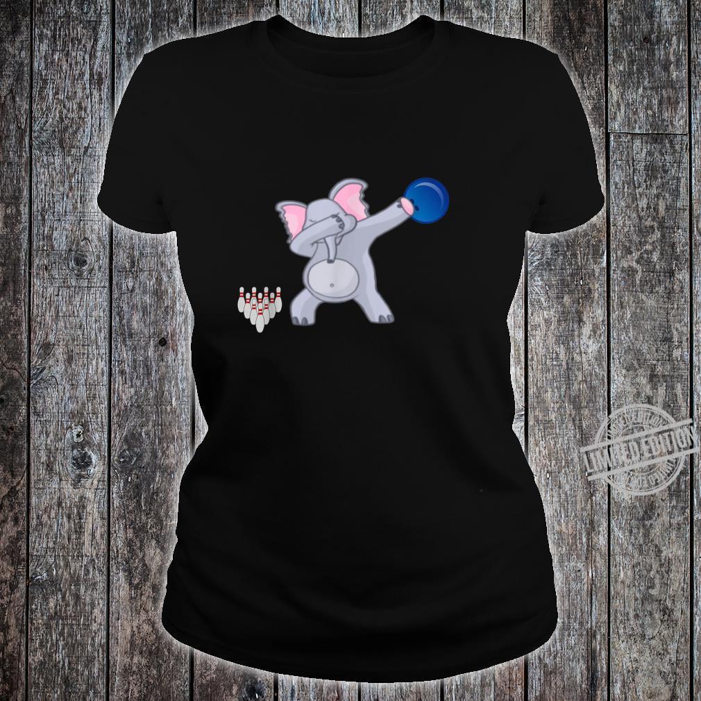 Dabbing Elephant bowler Adults Bowling Shirt ladies tee