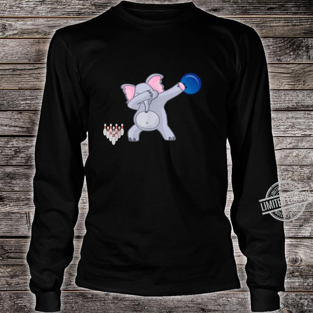 Dabbing Elephant bowler Adults Bowling Shirt long sleeved