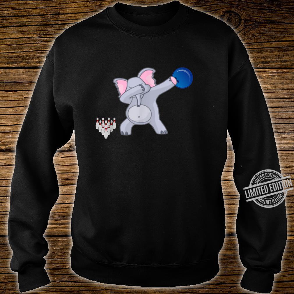 Dabbing Elephant bowler Adults Bowling Shirt sweater