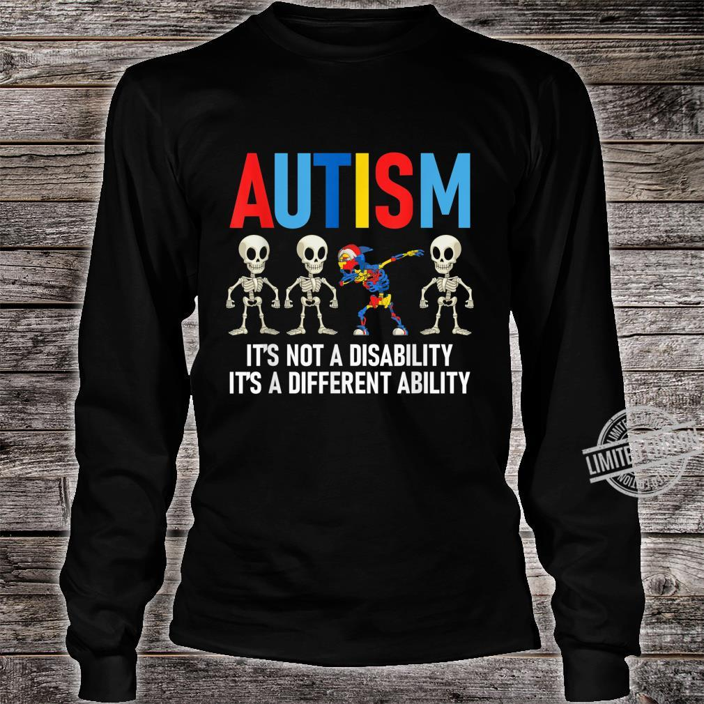 Dabbing Skeleton Not A Disability Autism Awareness Shirt long sleeved