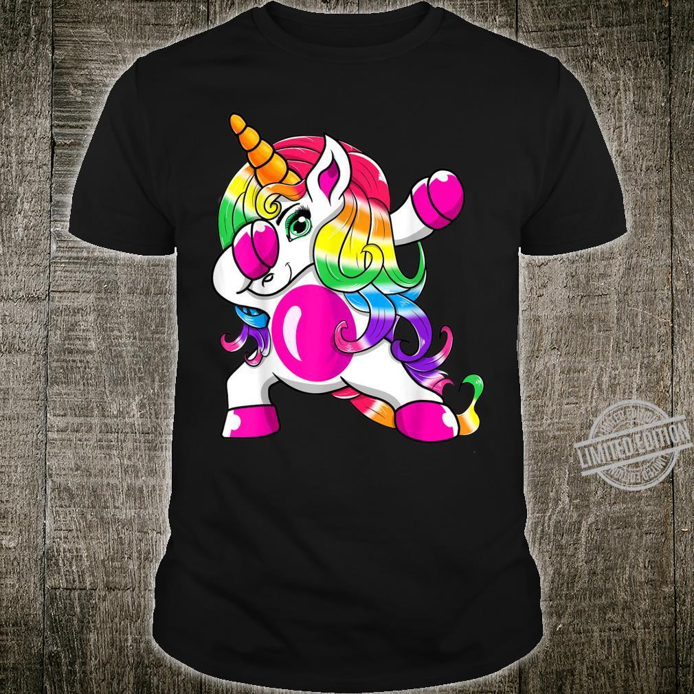 Dabbing Unicorn Girls Rainbow Unicorn Shirt