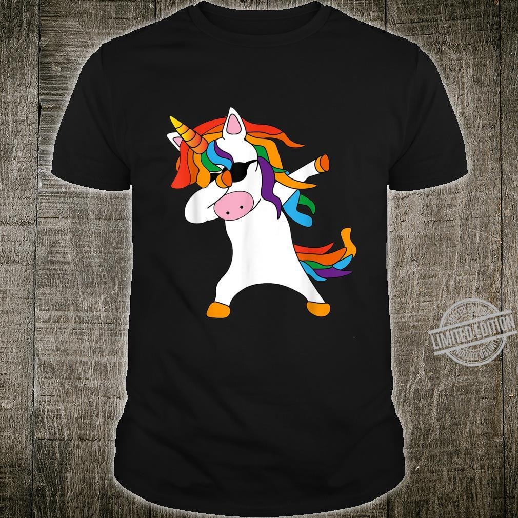 Dabbing Unicorn cute cool Dab Unicorn birthday Shirt