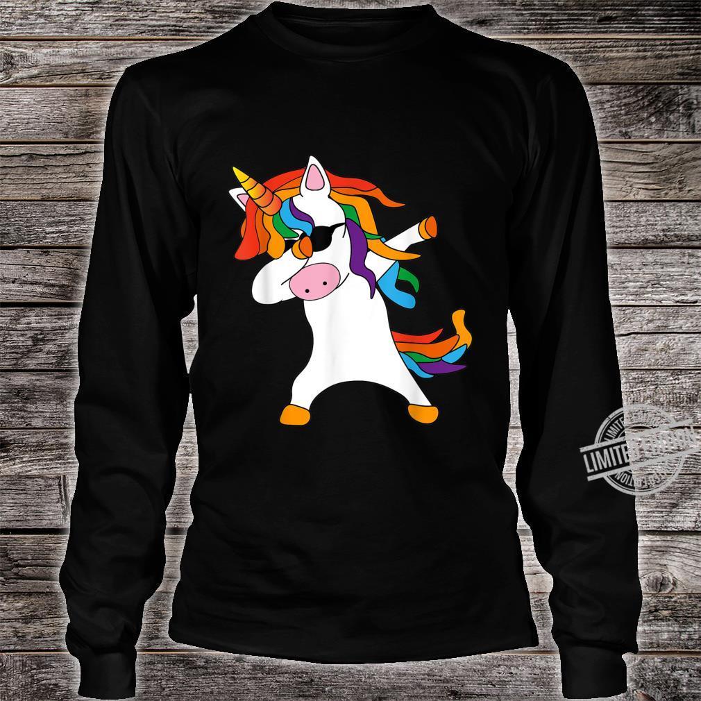 Dabbing Unicorn cute cool Dab Unicorn birthday Shirt long sleeved