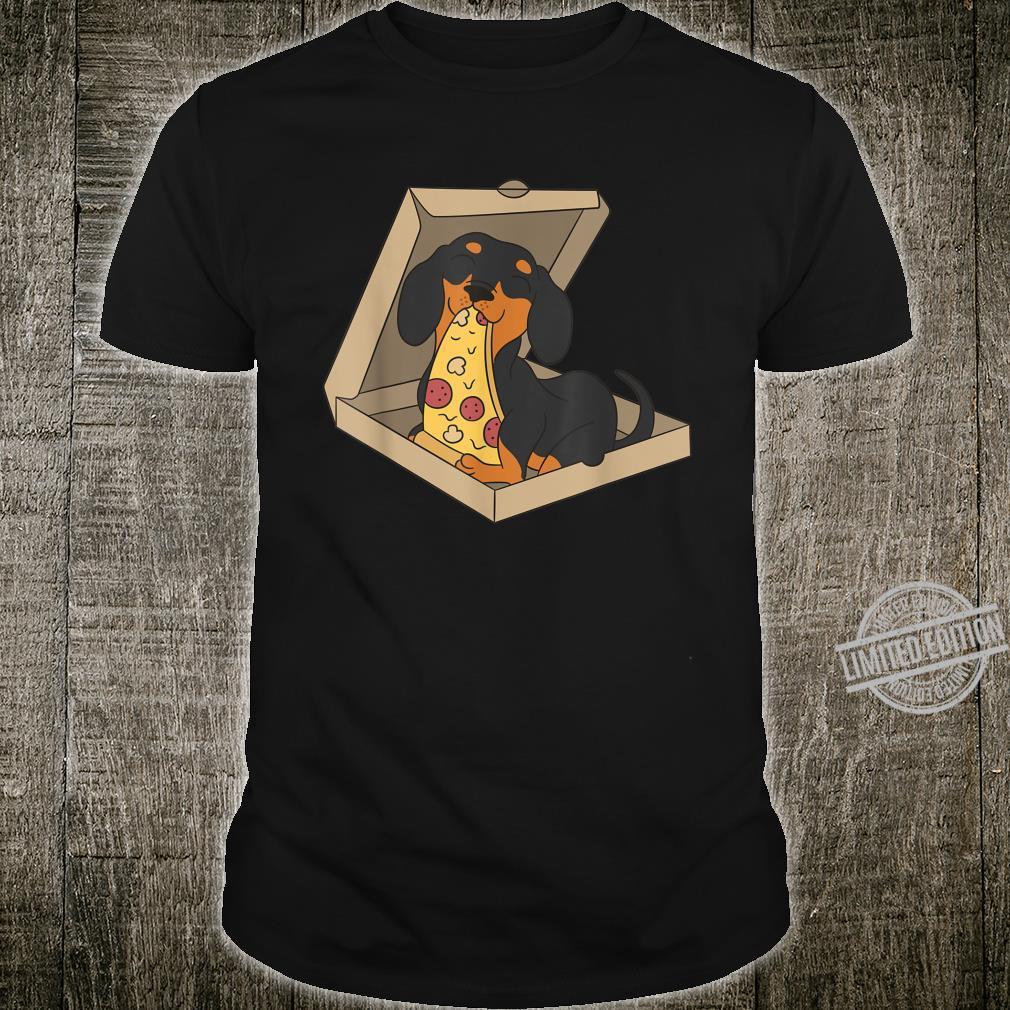 Dackel Pizza Essen Lustiger Hund Shirt