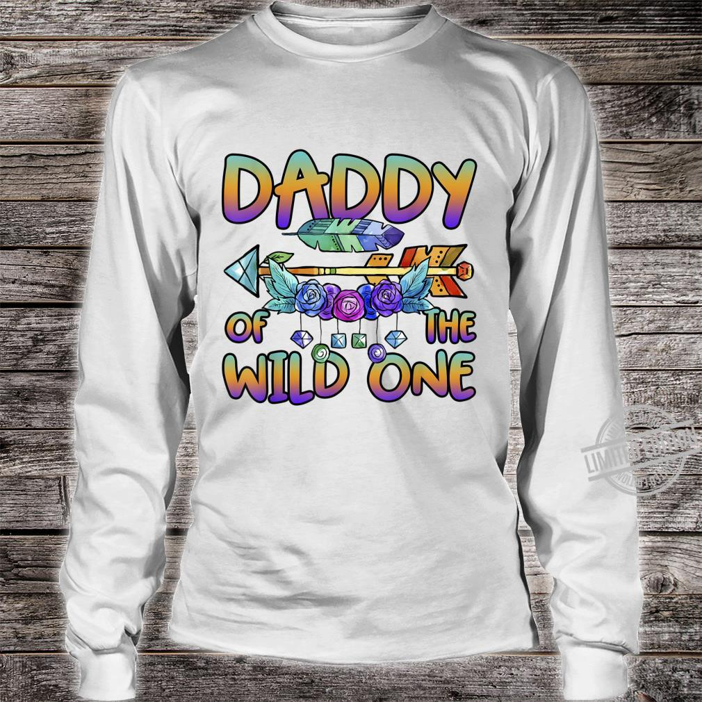 Daddy of the Wild One 1st Birthday Matching Family Outfits Shirt long sleeved