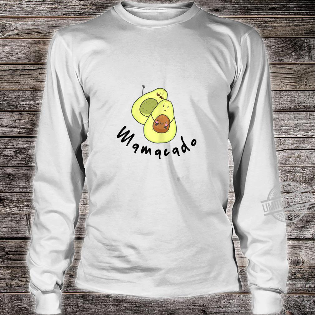 Damen Baby Schwanger Avocado Geschenk Familie Shirt long sleeved