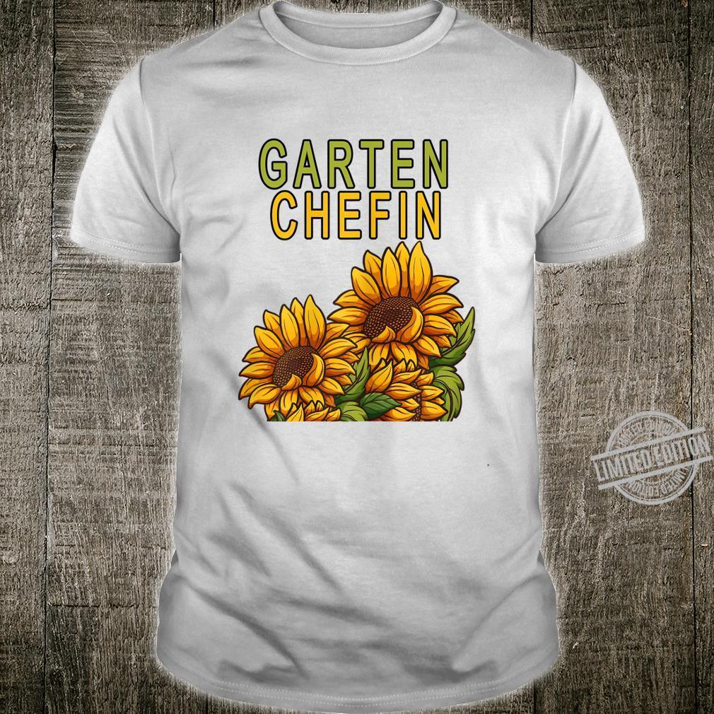 Damen Garten Chefin Gärtnerin Sonnenblume Ruhestands Geschenk Shirt