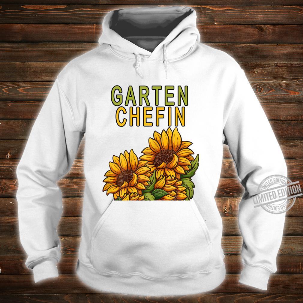 Damen Garten Chefin Gärtnerin Sonnenblume Ruhestands Geschenk Shirt hoodie