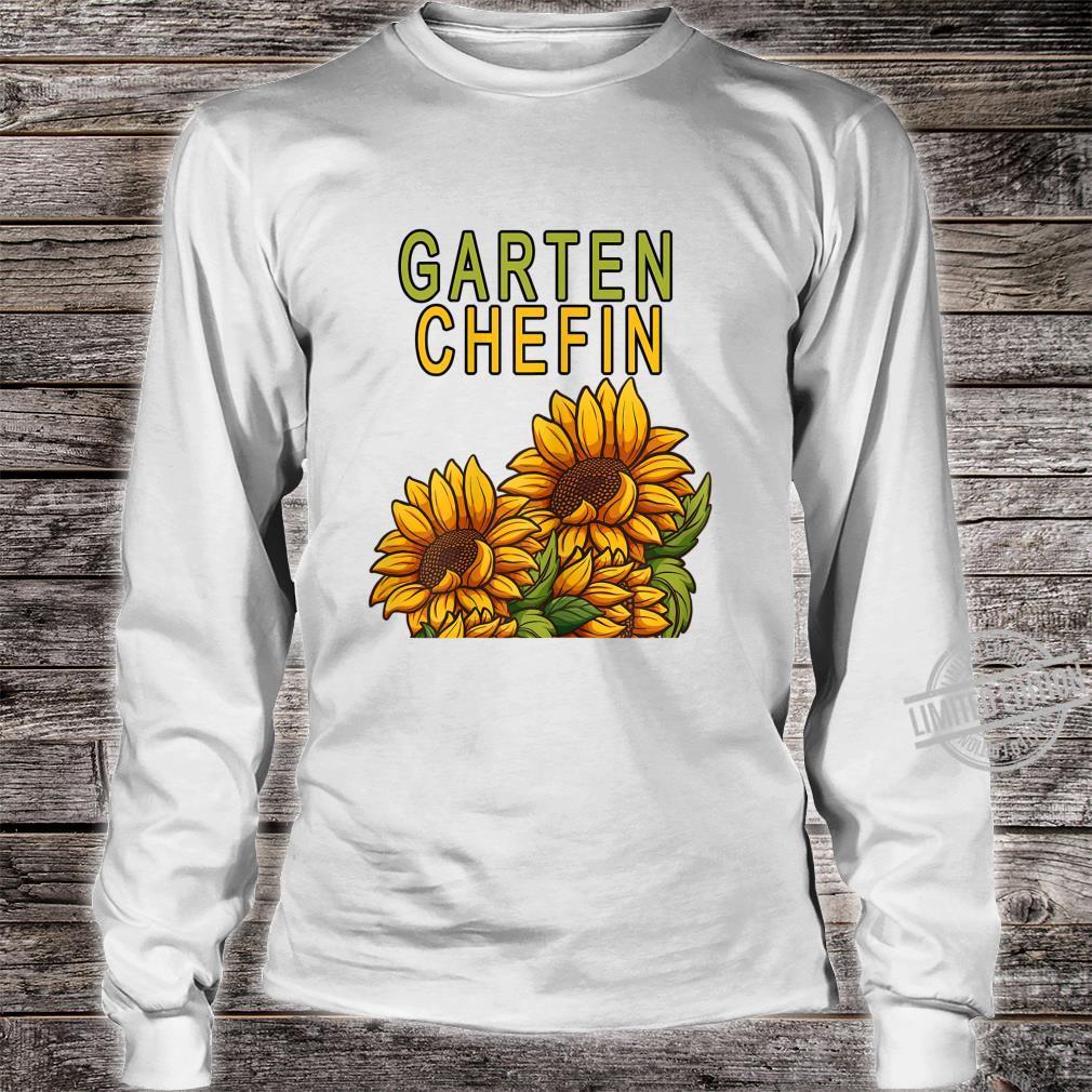 Damen Garten Chefin Gärtnerin Sonnenblume Ruhestands Geschenk Shirt long sleeved