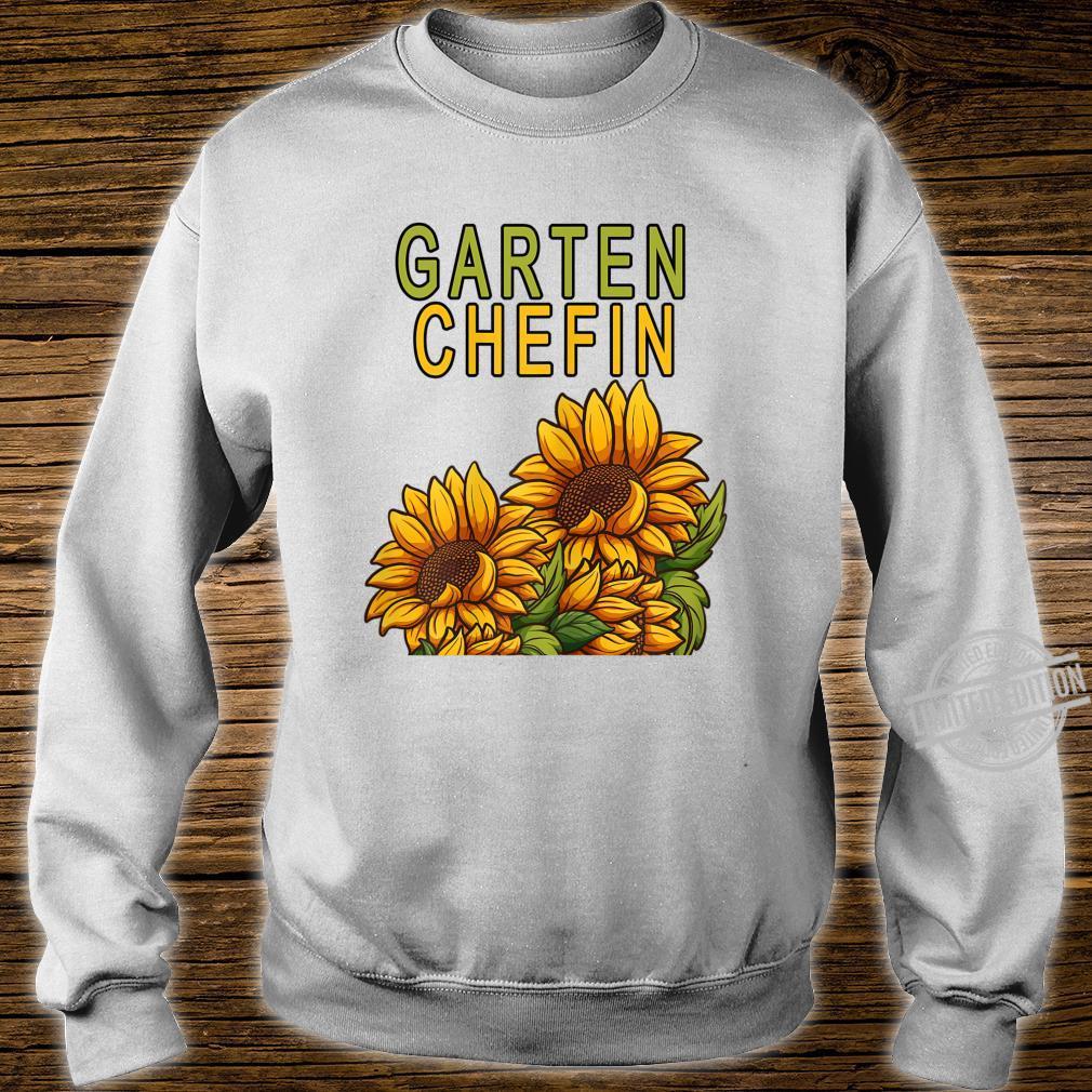 Damen Garten Chefin Gärtnerin Sonnenblume Ruhestands Geschenk Shirt sweater