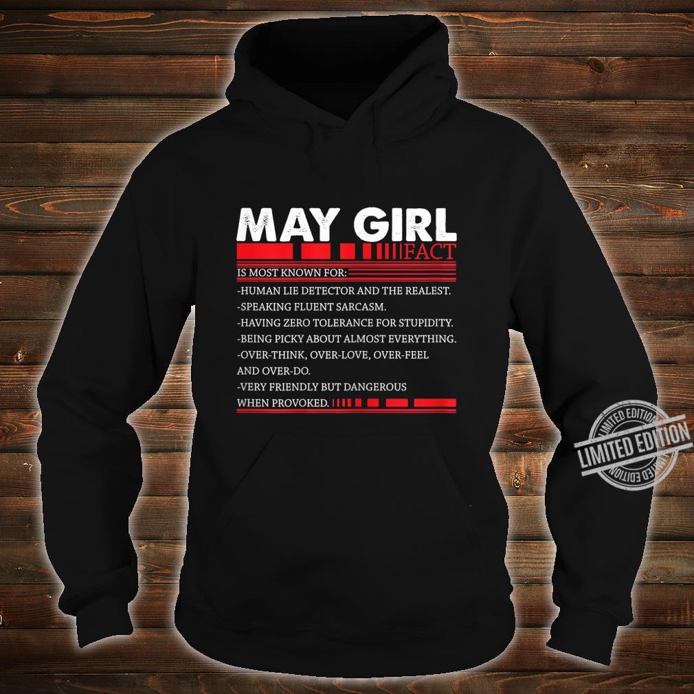 Damen May Girl Fact Speaking Fluent Sarcasm Birth Day Shirt hoodie