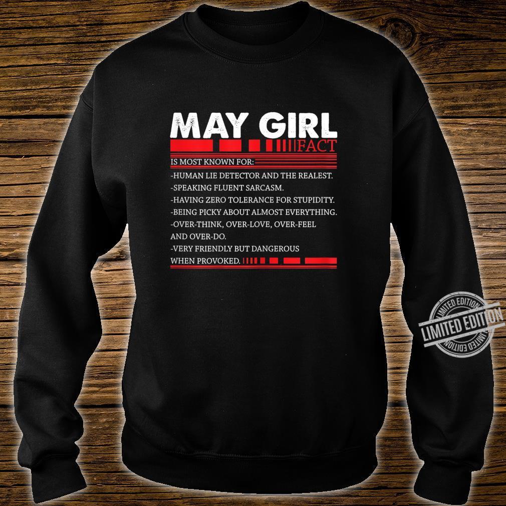 Damen May Girl Fact Speaking Fluent Sarcasm Birth Day Shirt sweater