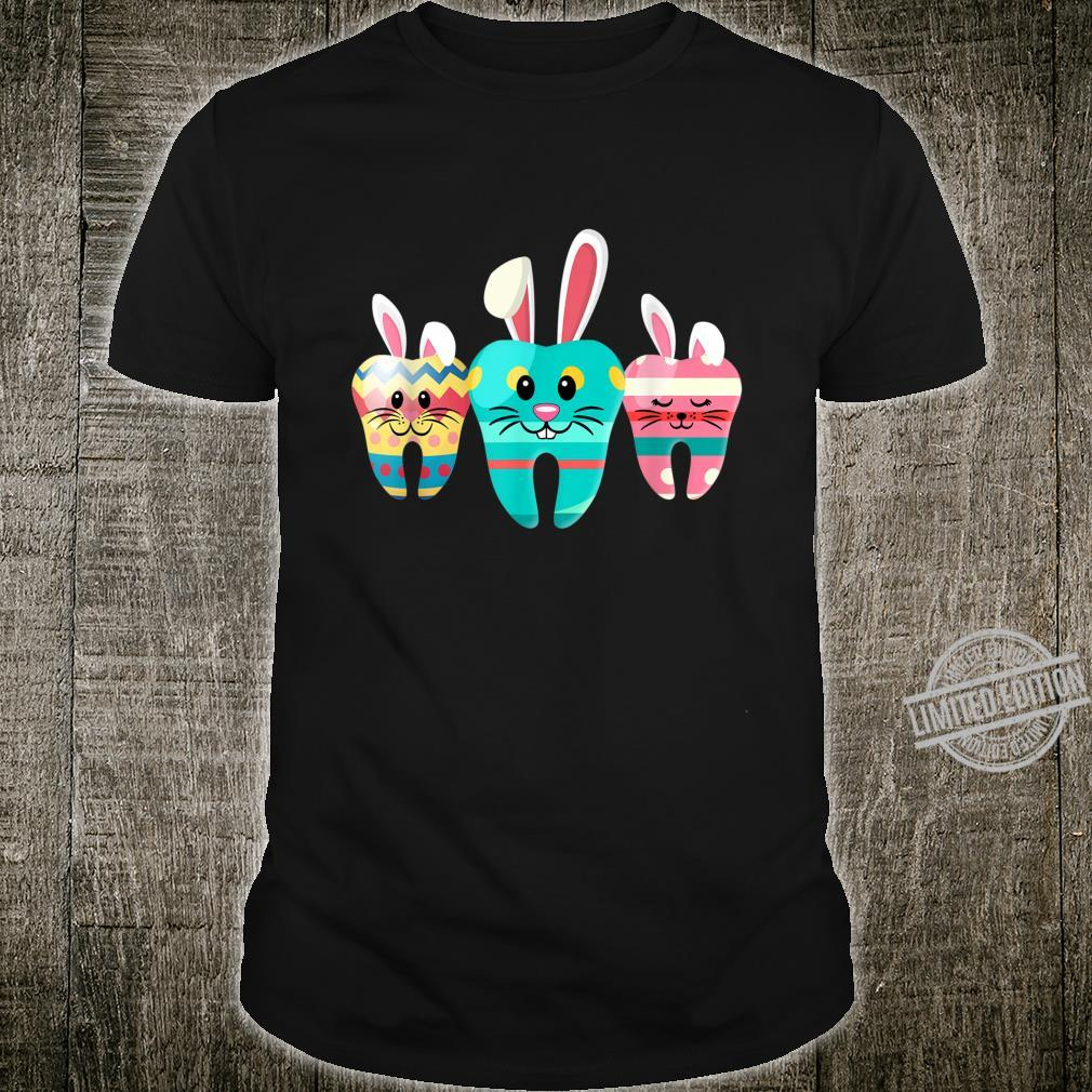 Dental Hygienist Eggcellent Easter Bunny Tooth Shirt