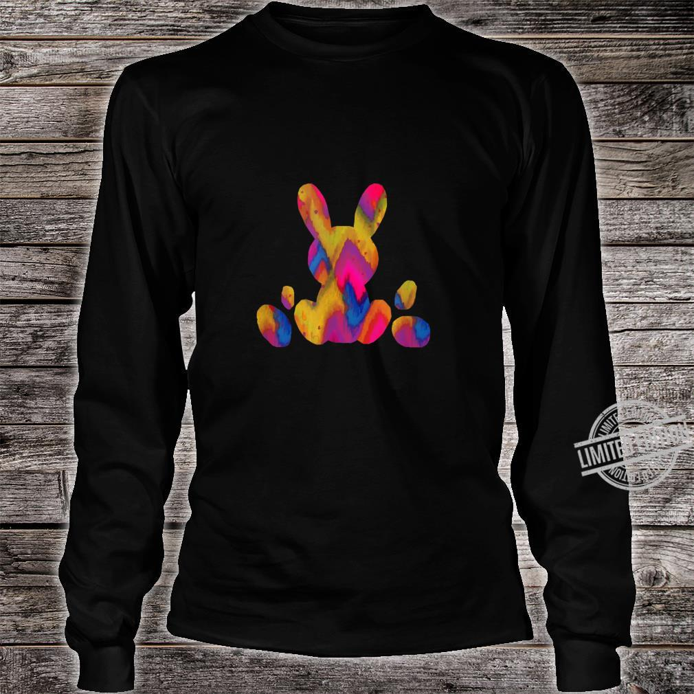 Easter Egg Bunny Colorful Pastel Children's Holiday Shirt long sleeved