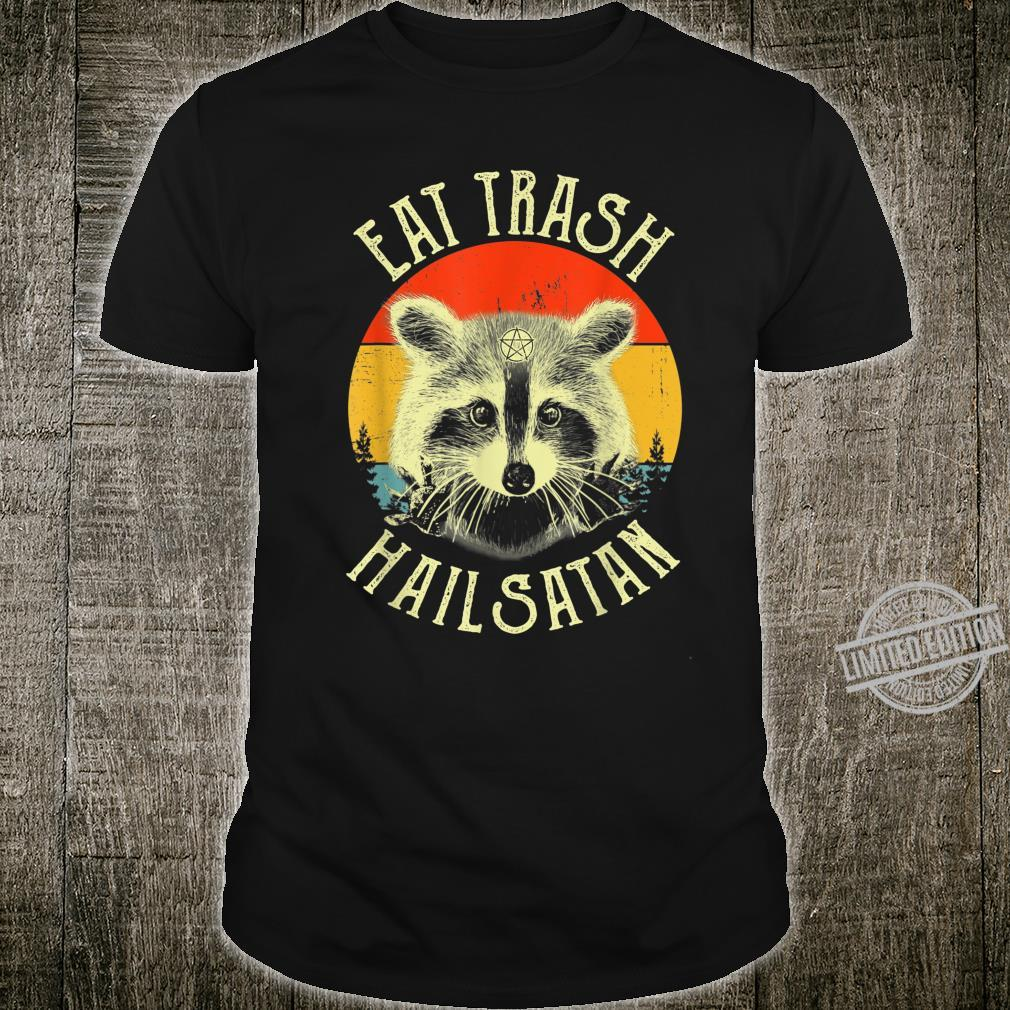 Eat Trash Hail Satan Raccoon Pentagram Satanic Garbage Gang Shirt