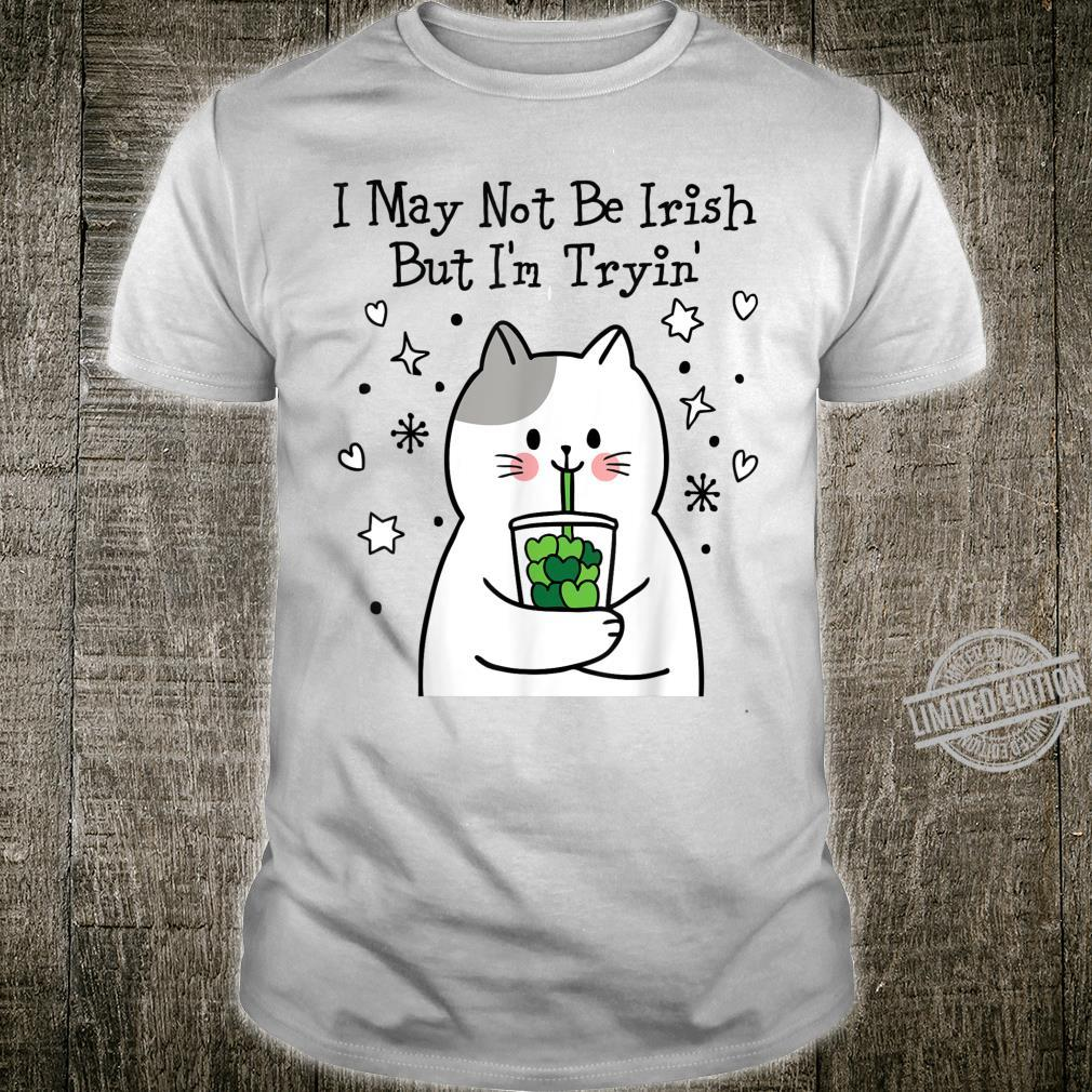 Funny Cute Kitten Cat On St Patrick's Day Party Parade Shirt