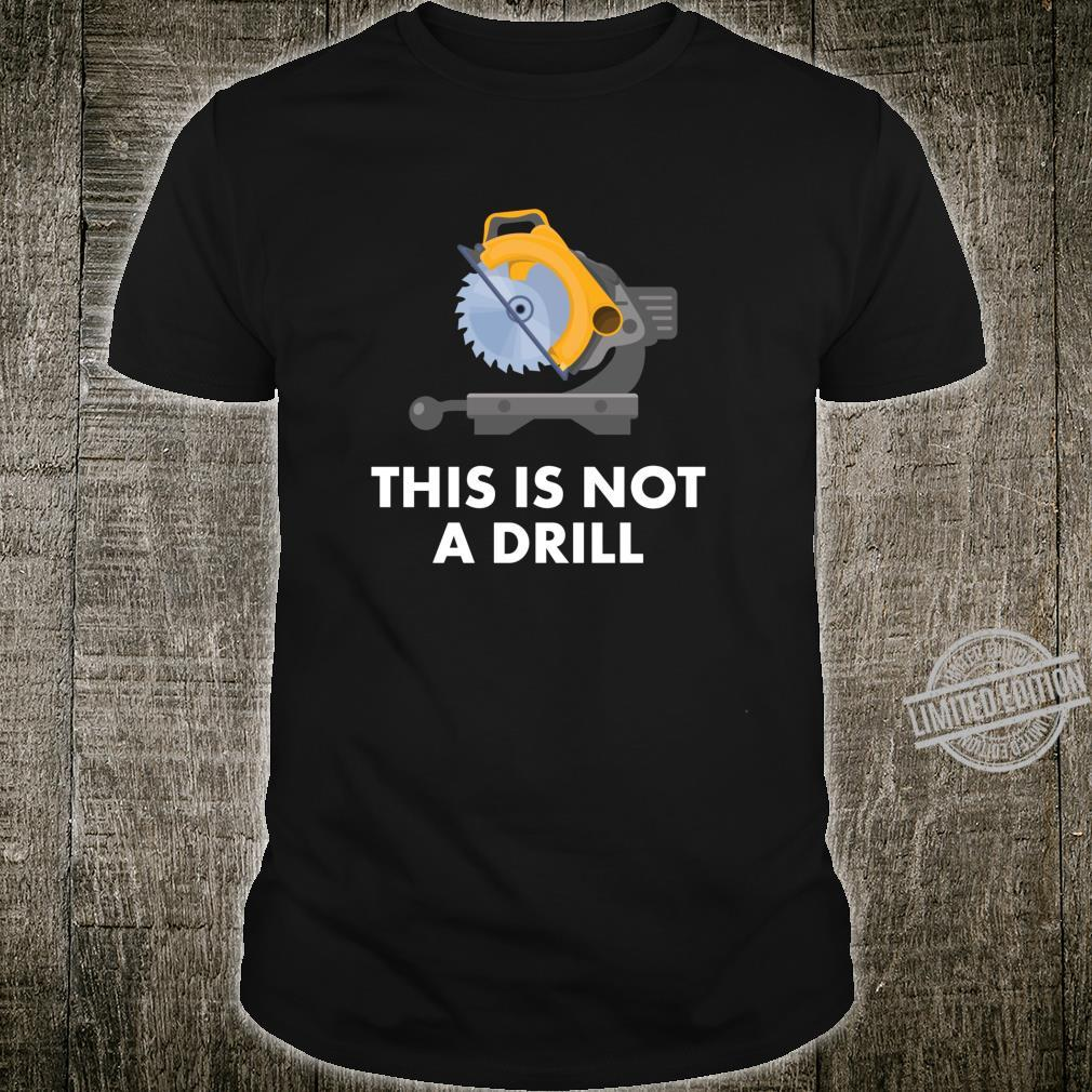 Funny Dad Vater Geschenk Dies ist kein Drill Langarmshirt Shirt