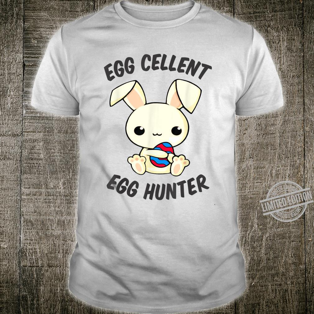 Funny Easter Day EggCellent Egg Hunte Outfit Cute Bunny Ear Shirt