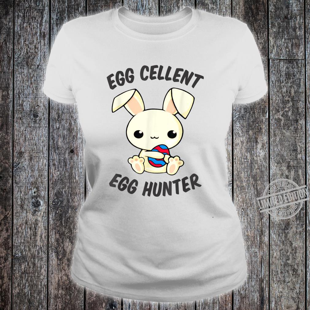 Funny Easter Day EggCellent Egg Hunte Outfit Cute Bunny Ear Shirt ladies tee