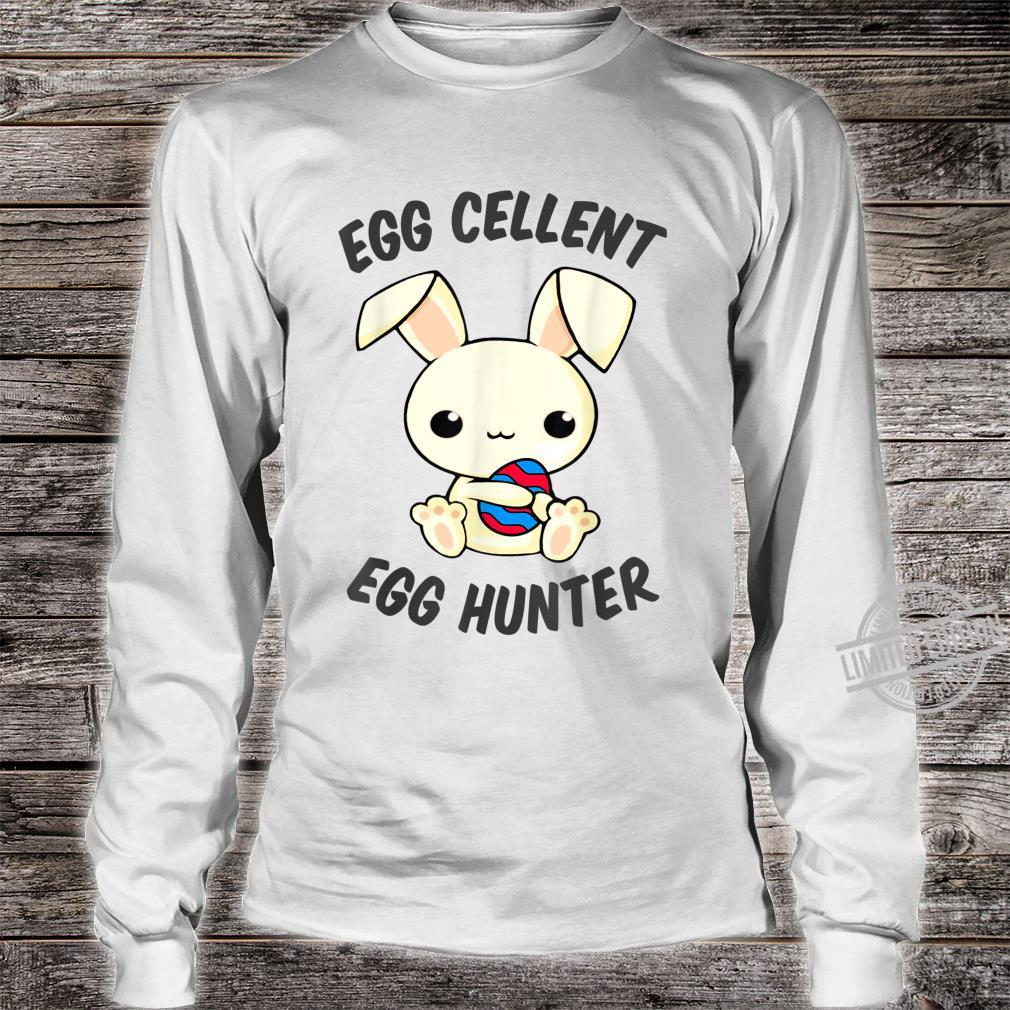 Funny Easter Day EggCellent Egg Hunte Outfit Cute Bunny Ear Shirt long sleeved