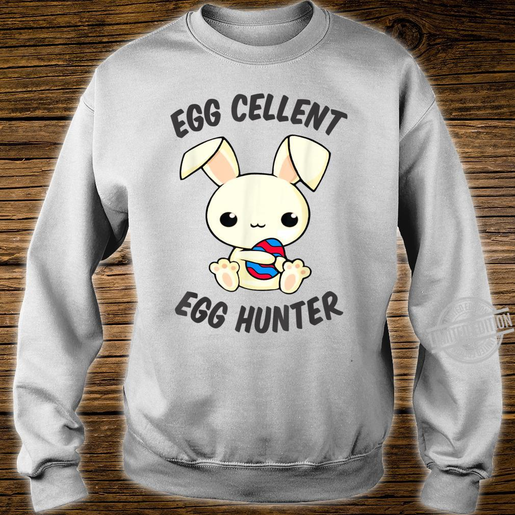 Funny Easter Day EggCellent Egg Hunte Outfit Cute Bunny Ear Shirt sweater