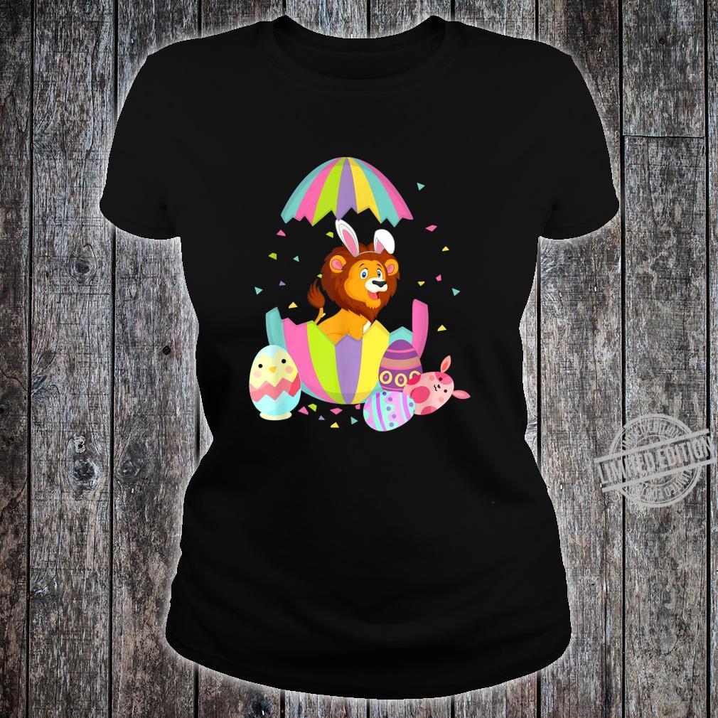 Funny Lion Easter Egg Bunny Easter Bunny Lion Shirt ladies tee