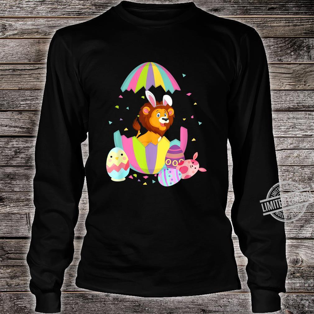 Funny Lion Easter Egg Bunny Easter Bunny Lion Shirt long sleeved