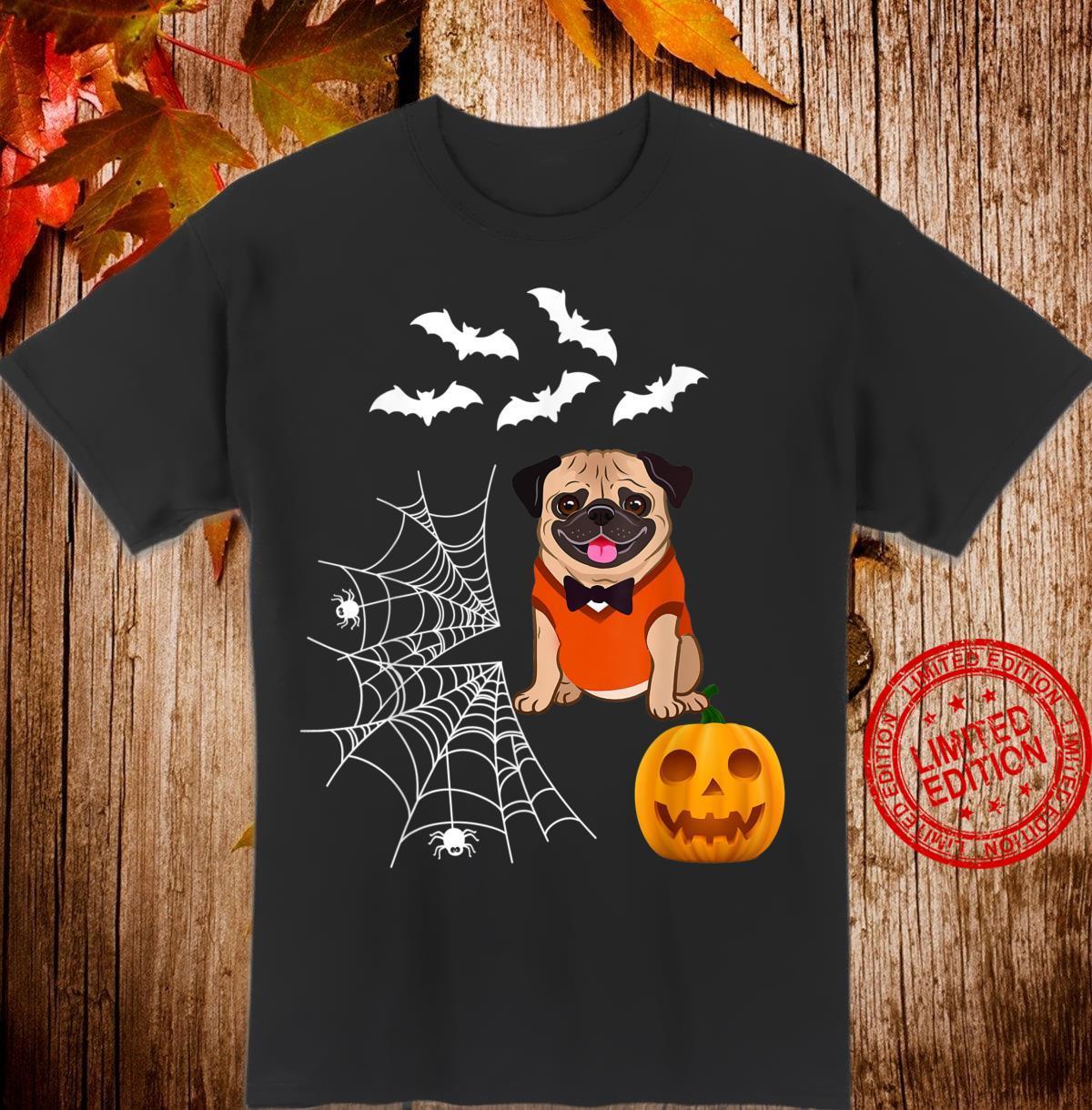 Funny Pumpkin Pug Matching Pug Dog Halloween Shirt