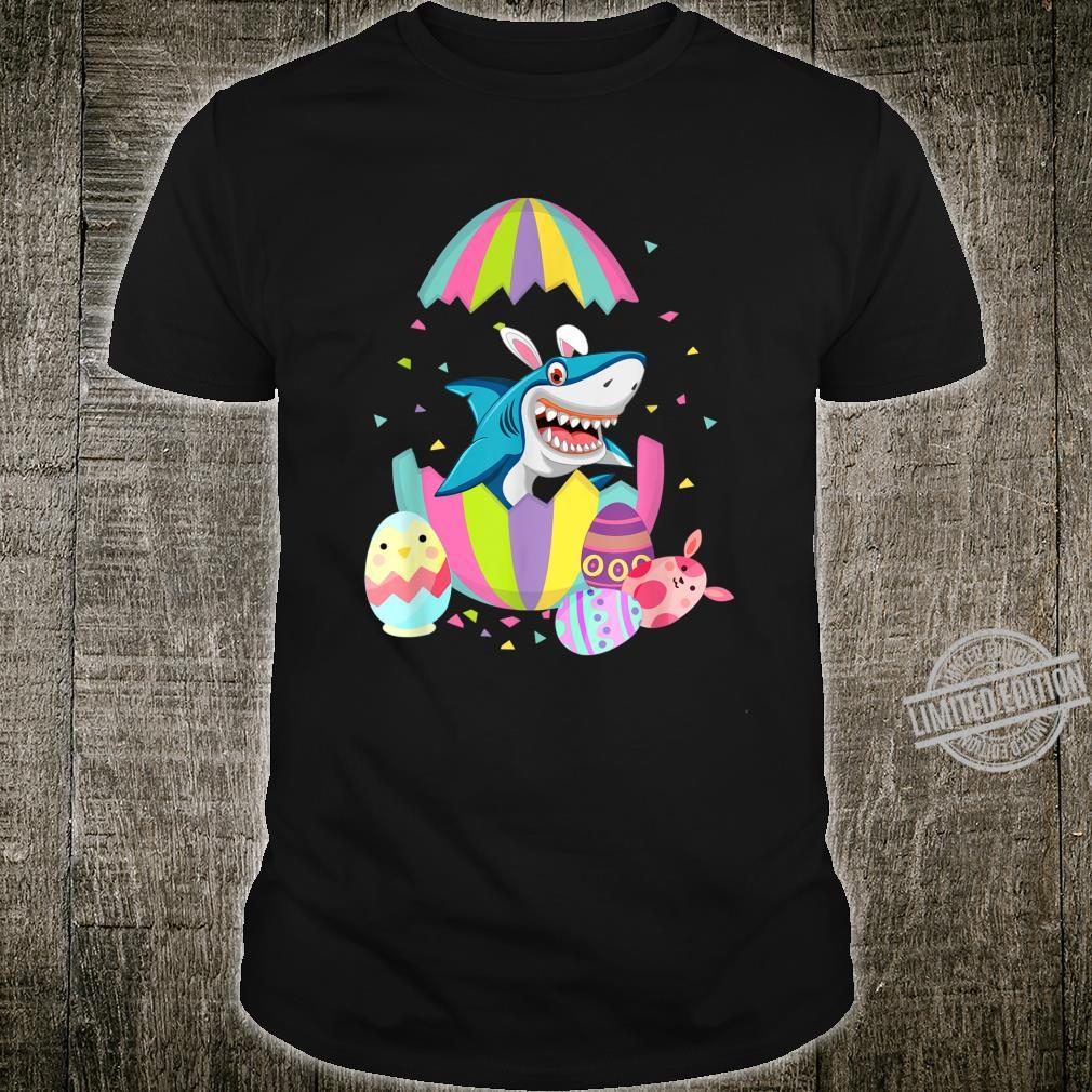Funny Shark Easter Egg Bunny Easter Bunny Shark Shirt