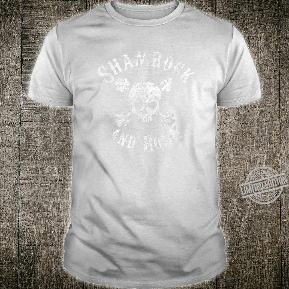Funny St. Patrick's Day Shirt Shamrock and Roll Skull Shirt
