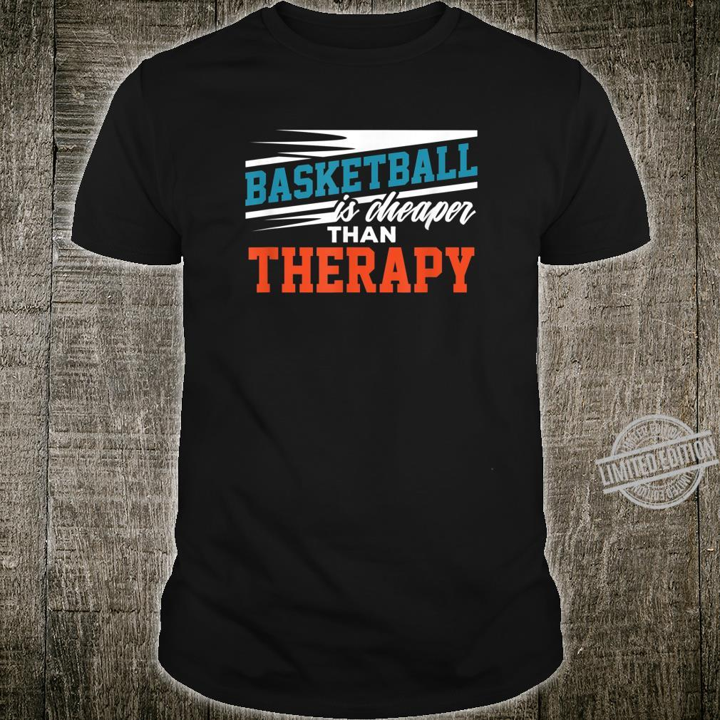 Gift for Basketball Players Coach Basketball Therapy Shirt