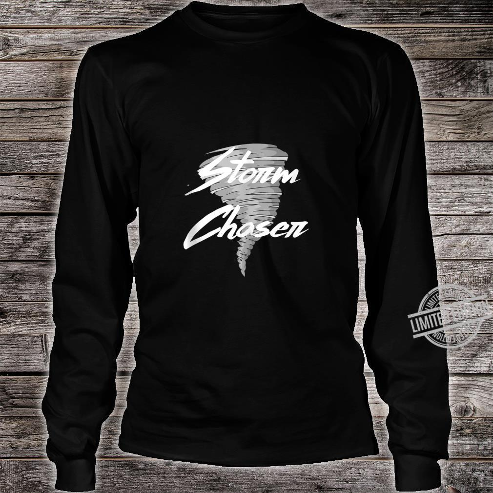 Gifts For Storm Chaser Weather Nerd Meterologist Tornado Shirt long sleeved
