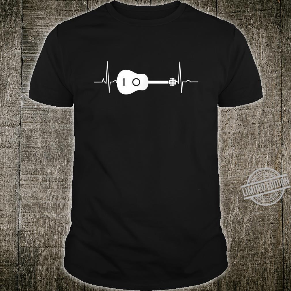 Gitarre Herzschlag Gitarristen Rockstar Tolles Geschenk Shirt