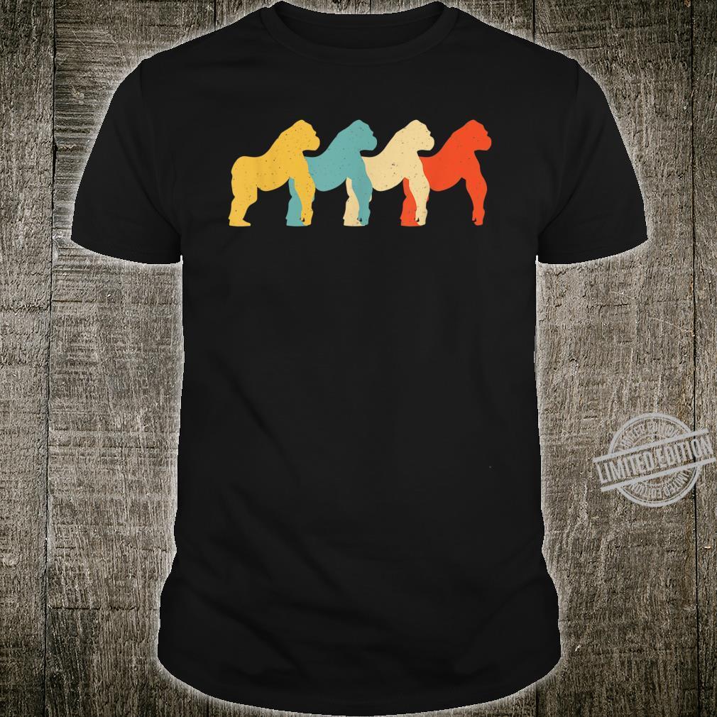 Gorilla Vintage Retro Ape Animal Primate 60s 70s Shirt