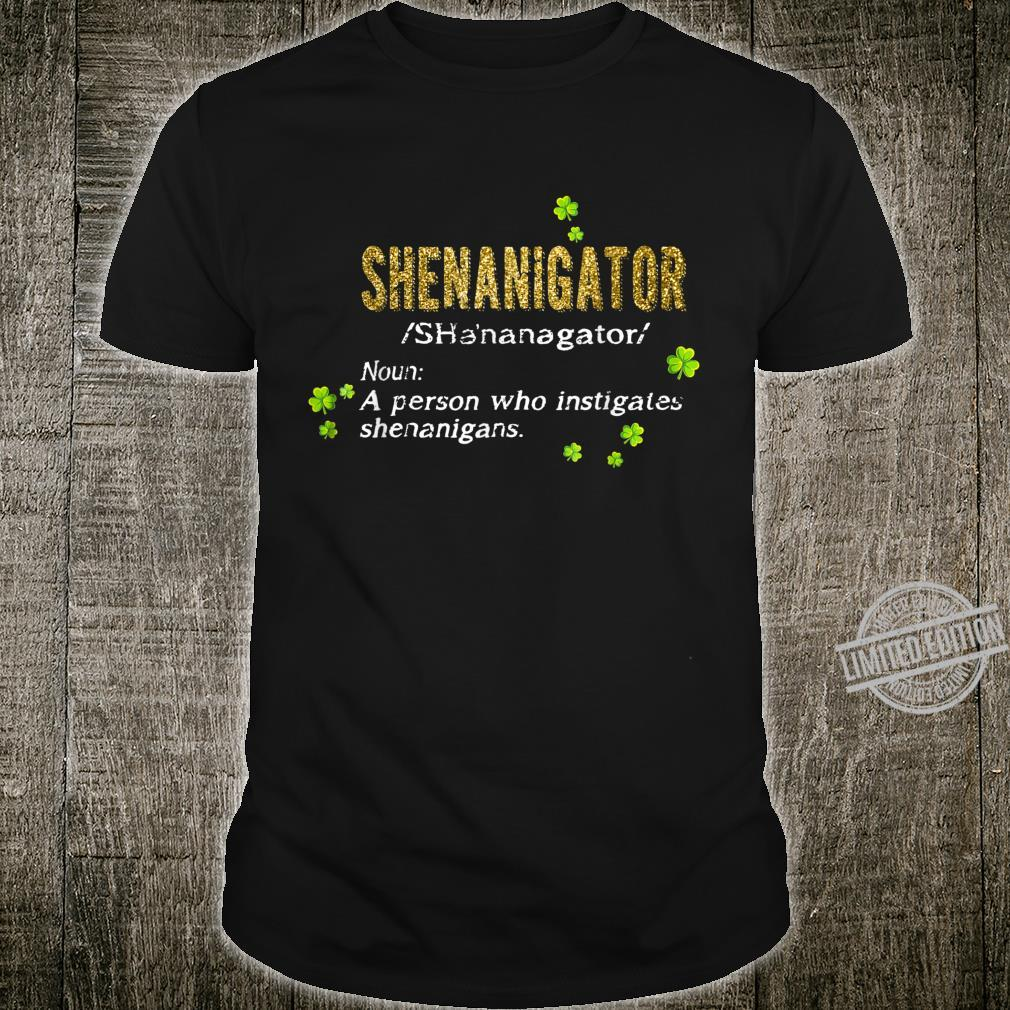 Green Leprechauns Shenanigans St Patricks Day Shenanigator Shirt