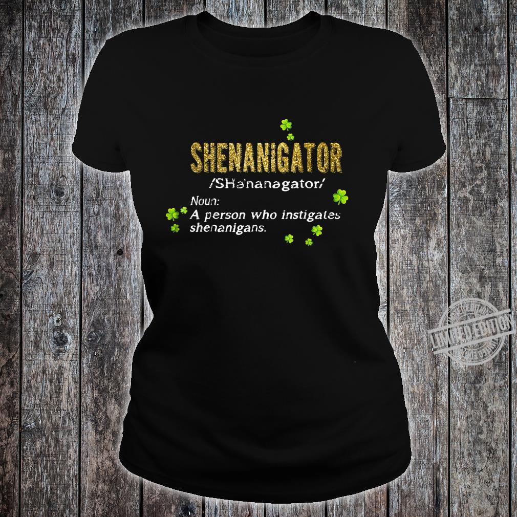 Green Leprechauns Shenanigans St Patricks Day Shenanigator Shirt ladies tee
