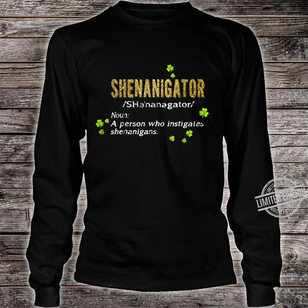 Green Leprechauns Shenanigans St Patricks Day Shenanigator Shirt long sleeved